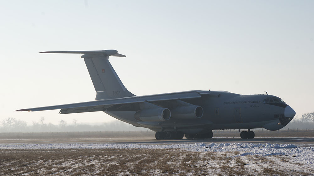 Angolan Il-76 undergoing refurbishment in Ukraine